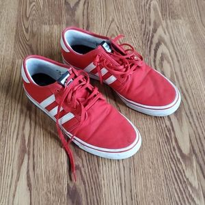 Adidas red sneakers size 12